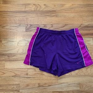 Nike Pink and Purple Shorts